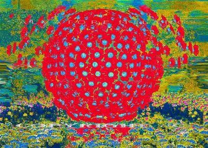 """Arte digitale - Salvatore Milano: """"Sembravano  fiori"""",  copyright."""